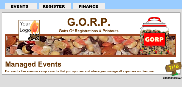 GORP splash